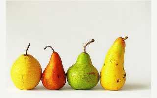 Калорийность груш разных сортов