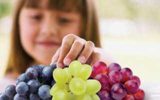 С какого возраста можно давать грудничку виноград