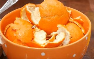 Удобрение из апельсиновых корок для цветов
