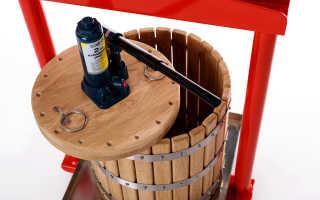 Изготовление пресса для яблок своими руками